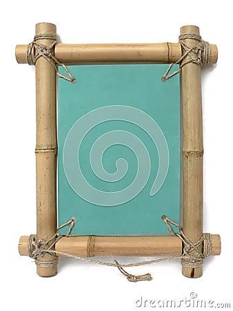 Bamboo retro  photo frame