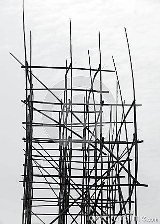 Free Bamboo Scaffolding Royalty Free Stock Photo - 18983845