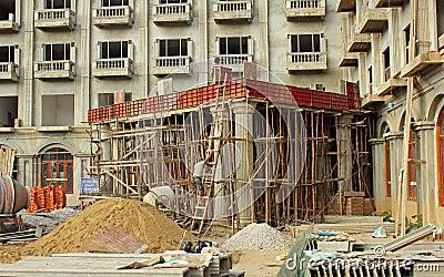Bamboo scaffolding Editorial Image