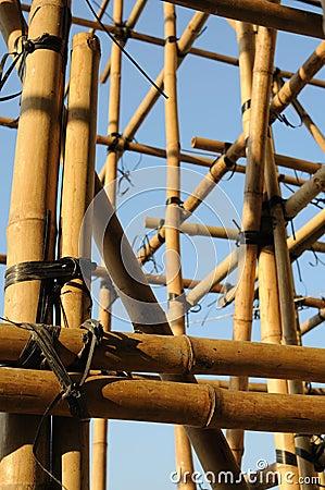 Free Bamboo Scaffolding Royalty Free Stock Photos - 8088578