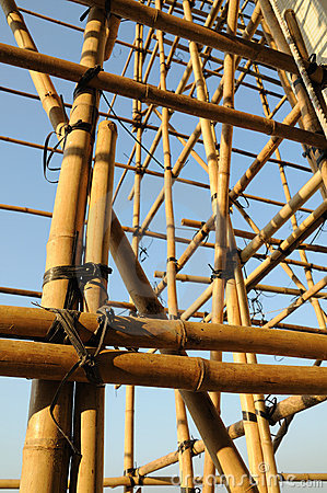 Free Bamboo Scaffolding Royalty Free Stock Photography - 8088587