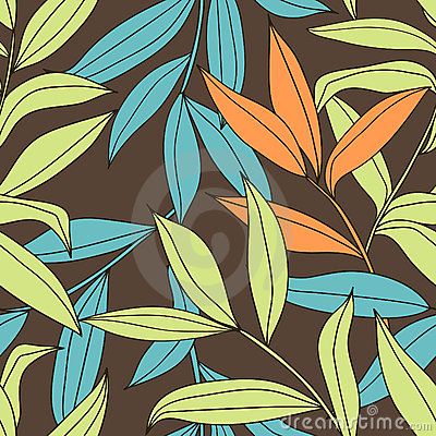 Bamboo - seamless floral pattern