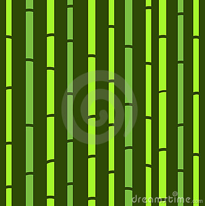 Bamboo seamless green natural retro pattern.