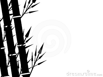 Bamboo Silhouette Background