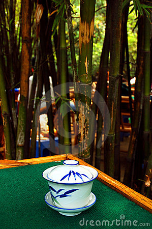 Bamboo tea house