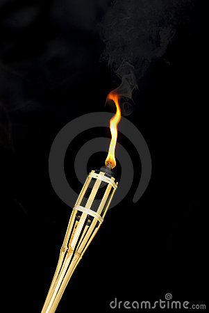 Bamboo flame torch