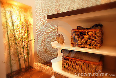 Bamboo tree in the bathroom