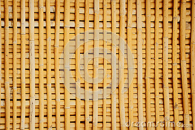 Bamboo wall house pattern background