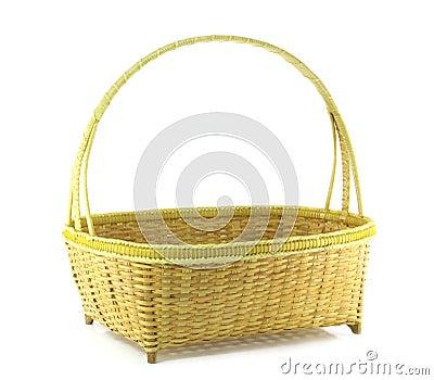 Bamboo weave basket