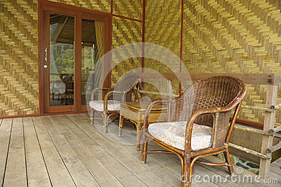 Bamboo and wicker chair Living room