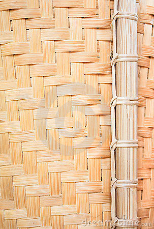 Bamboo wickerwork Close up