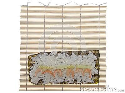 Bambusmatte Fur Das Kochen Der Sushi Stockfotografie Bild 18525132