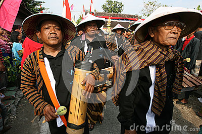 Bambusmusik Redaktionelles Stockbild