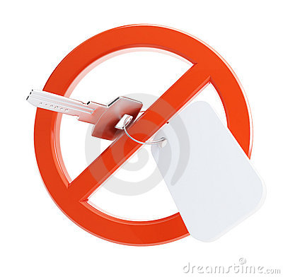 Ban on the key