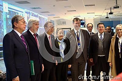 Ban Ki-Moon visits CERN Editorial Photography