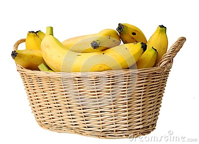 Banana in basket