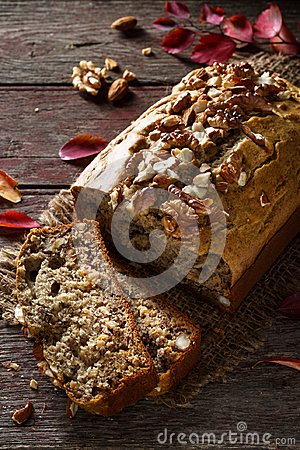 Free Banana Bread With Nuts Stock Images - 108470204