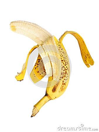 Banana cleared of a peel