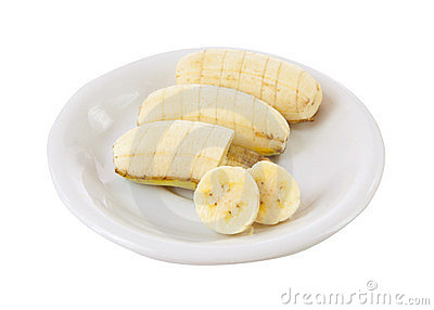 Banana on dish