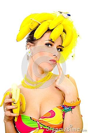 Free Banana Lady Royalty Free Stock Photos - 2109938