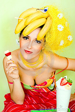 Free Banana Lady Stock Photos - 2109993