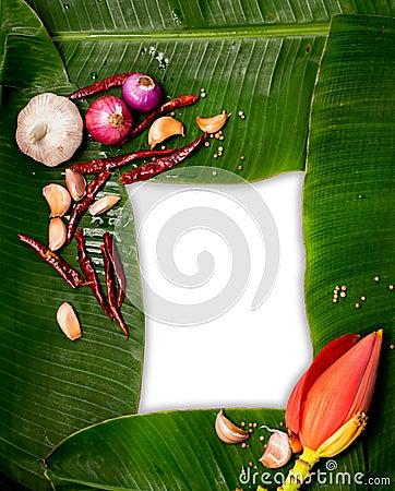 Free Banana Leaf Frame Stock Photos - 102933063