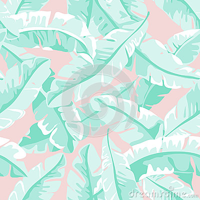 Banana leaves Cartoon Illustration