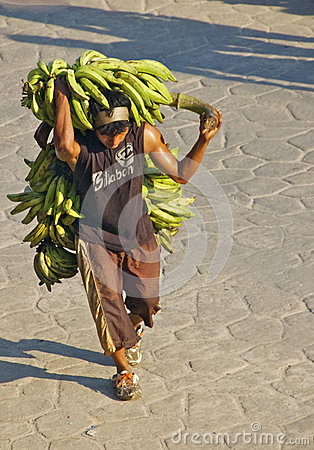 Banana Man, Colombia Editorial Photography