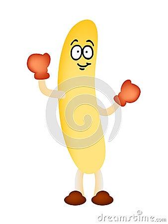 Banana man mascot vector