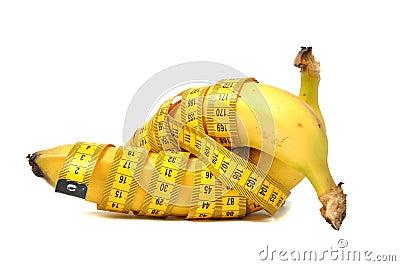 Banana and measure tape