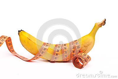 Banana with a measuring tape