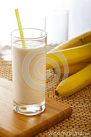 Free Banana Milkshake Stock Images - 14218264