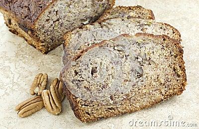 Banana Nut Bread Closeup