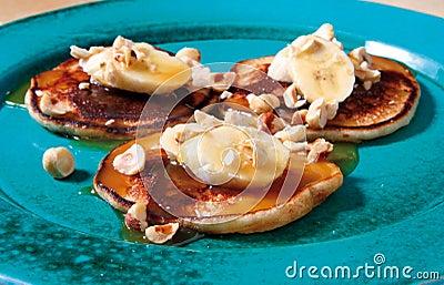 Banana pancake dessert