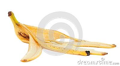 Banana peel isolated
