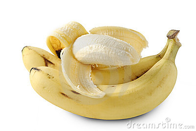 Banana in peeled