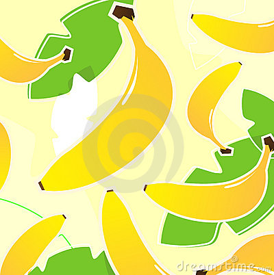 Banana retro tropical fruit texture or pattern