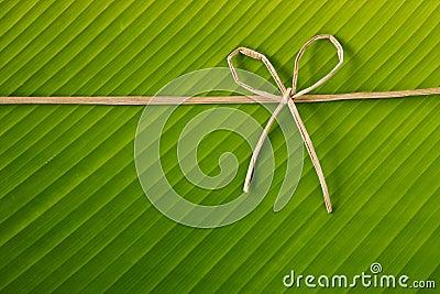 Banana rope and leaf