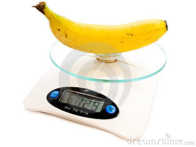 Banana At Scale Stock Photo - Image: 10204410