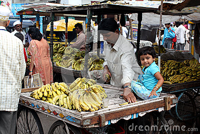 Banana Seller Editorial Image