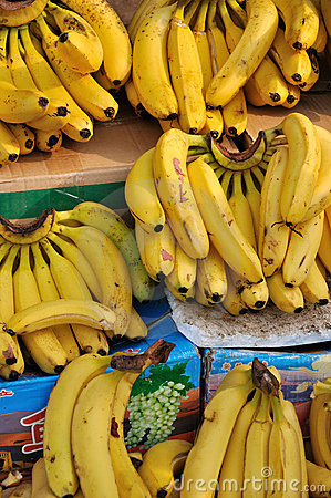 Banana selling in market
