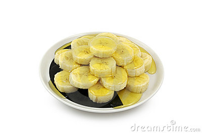 Banana Slices with Honey