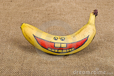 banan na twarzy