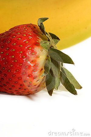 Banana and strawberry - the perfect match
