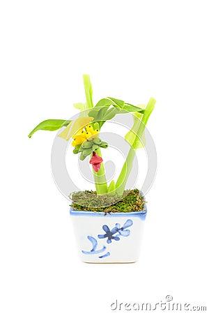 Free Banana Tree Plastic Stock Image - 39785551