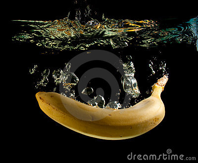 Banana in water