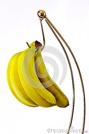 Bananas on holder