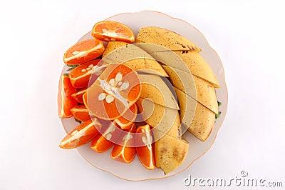 Bananas and mandarines