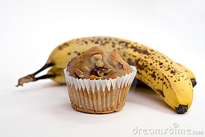 Bananas Or Muffin? Royalty Free Stock Images - Image: 2459439