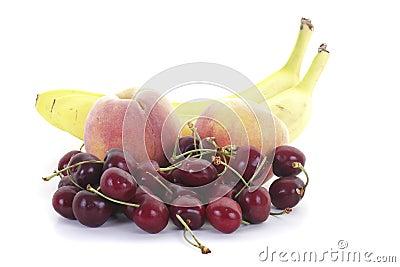 Bananas Peaches and Cherries